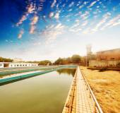 Atıksu arıtma tesisi — Stok fotoğraf