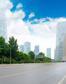 The century avenue of street scene in shanghai Lujiazui — Stock Photo