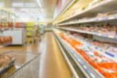 Supermarket blur background — Stock Photo