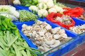 Fresh vegetables market — Stock Photo
