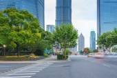 The century avenue of street scene in shanghai Lujiazui,China. — Stock Photo