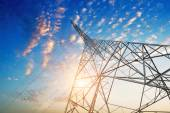 Power tower in the sky — Stock Photo