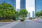 Avenue of street scene — Stock Photo
