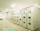 Electrical energy distribution substation in a power plant — Stock Photo