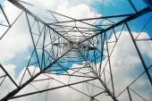 Power Tower in sky — Stock Photo