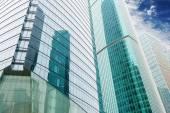 Metropolis of Shanghais modern office building — Stock Photo