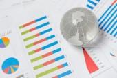 Business presentation with globe — Stock Photo