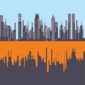 Yapı, ev, şehir — Stok Vektör