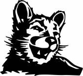 Lion de montagne — Vecteur