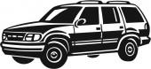 Sport Utility Vehicle — Stock Vector