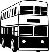 Autobus a due piani — Vettoriale Stock
