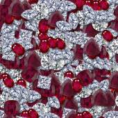 Diamonds and Rubies Seamless Texture Tile — Stok fotoğraf