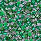 Diamonds and Emeralds Seamless Texture Tile — Stockfoto