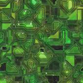 Printed Circuit Board Seamless Texture Tile — 图库照片