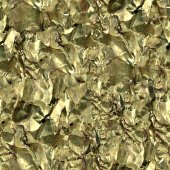 Crumpled Gold Foil Seamless Texture Tile — 图库照片