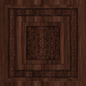 Carved Wood Seamless Texture Tile — Stock Photo