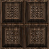 Carved Wood Seamless Texture Tile — Foto de Stock