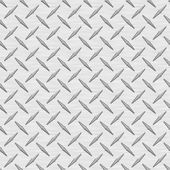 Silver Diamondplate Metal Seamless Texture Tile — Stock Photo