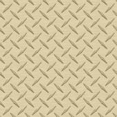 Pale Gold Diamondplate Metal Seamless Texture Tile — Stock Photo
