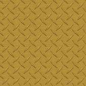 Dark Gold Diamondplate Metal Seamless Texture Tile — Stock Photo