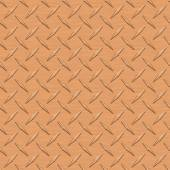 Copper Diamondplate Metal Seamless Texture Tile — Stock Photo
