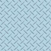 Ice Blue Diamondplate Metal Seamless Texture Tile — Stock Photo