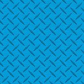 Bright Blue Diamondplate Metal Seamless Texture Tile — Stock Photo