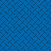 Medium Blue Diamondplate Metal Seamless Texture Tile — Stock Photo