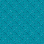 Teal Diamondplate Metal Seamless Texture Tile — Stock Photo