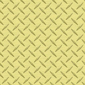 Pale Yellow Diamondplate Metal Seamless Texture Tile — Stock Photo