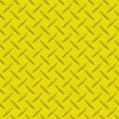 Yellow Diamondplate Metal Seamless Texture Tile — Stock Photo