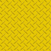 Sunflower Yellow Diamondplate Metal Seamless Texture Tile — Stock Photo