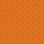 Orange Diamondplate Metal Seamless Texture Tile — Stock Photo