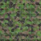 Kapitone ormanlık kamuflaj sorunsuz doku kiremit — Stok fotoğraf