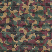 Quilted Woodland Camouflage Seamless Texture Tile — Stock Photo