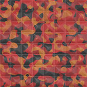 Quilted Orange Camouflage Seamless Texture Tile — Stockfoto