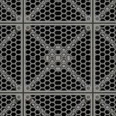 Metal Plate Seamless Texture Tile — Stock Photo