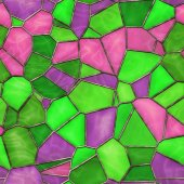 Stained Glass Seamless Texture Tile — Stock Photo