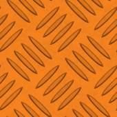Orange Diamondplate Metal Seamless Texture Tile — Stock Photo