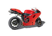 Red super sports motorbike — Stok Vektör