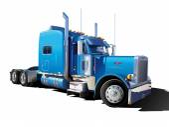 Big blue truck — Stock Vector