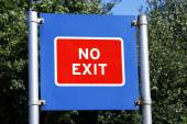 No exit sign — Stock Photo