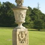 Sculptured urn on a plinth — Stock Photo #54981241