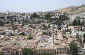 Aerial view of The Albaicin, Granada, Andalusia, Spain — Stock Photo