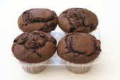 Chocolate muffins. supermarket product — Stock Photo