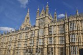 The Palace of Westminster. The British Parliament, London, England — Foto Stock