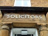 Solicitors. Solicitors sign. — Stock Photo