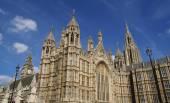 Big Ben clock, Westminster palace entrance. The British Parliament, London, England — Stock Photo