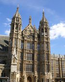 The Palace of Westminster. The British Parliament, London, England — Stock Photo