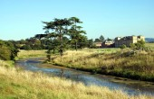 View of a river in the countryside, England — Stock Photo
